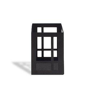 Porta-Lápis em Aço Mondrian Preto