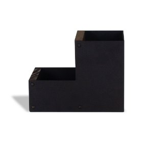 Porta-Lápis Aço Duplo Básico em Aço Preto
