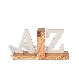 Aparador de Livros em Aço e Nogueira AZ Branco