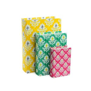 Conjunto 3 Livros Caixa Decorativos Marroquino