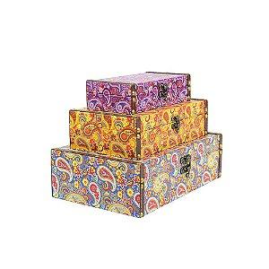 Conjunto 3 Caixas com Fecho Cashmere