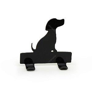 Cabideiro Porta Coleiras Cachorro Beagle Preto