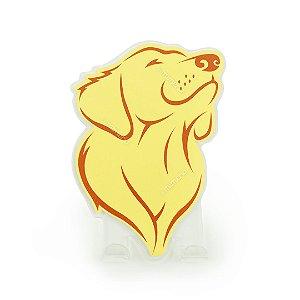 Cabideiro Porta Coleiras Cachorro Golden Caramelo