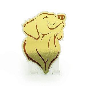 Cabideiro Porta Coleiras Cachorro Golden Dourado
