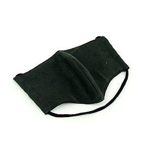 Máscara de Proteção Suede com Malha Modelo Bico de Pato Lisa Verde