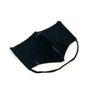 Máscara de Proteção Suede com Malha Modelo Bico de Pato Lisa Preta