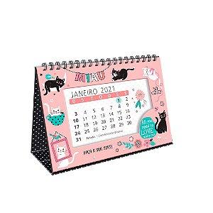 Calendário de Mesa 2021 Gatos