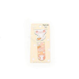 Kit Marcador de Página Magnéticos Hamster Pipoca
