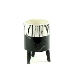 Cachepô de Cerâmica com Pés Noir Médio