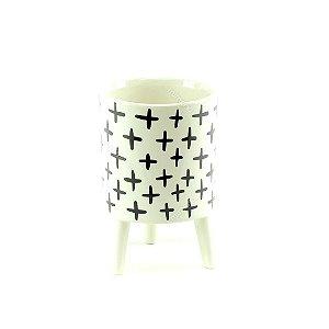 Cachepô de Cerâmica com Pés Plus Médio