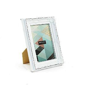 Porta Retrato Vintage Antique Branco 10x15