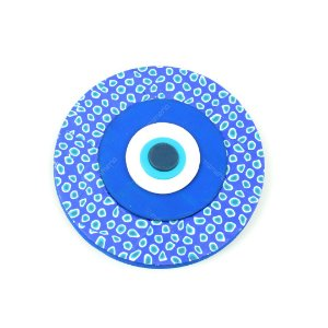 Placa Redonda Olho Grego Azul Grande