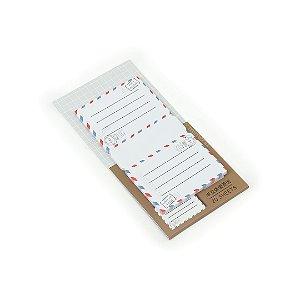 Bloco Adesivo para Recados Dobrável Envelope