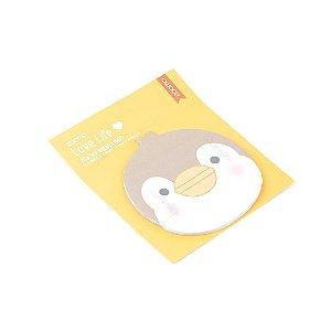 Bloco Adesivo para Recado Pinguim Bege