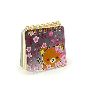 Caderneta Ursinho Flores