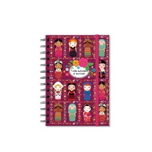 Caderno Médio Decorado Nós Somos o Mundo