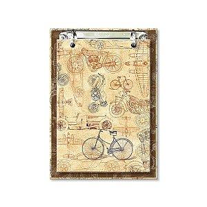 Bloco de Mesa Decorado Bike
