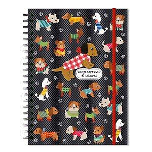 Caderno Universitário Decorado Cachorrinhos 100 folhas