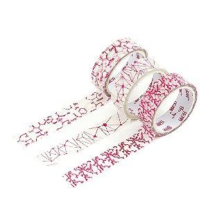 Kit 3 Fitas Adesivas Washi Tape Decorada Texturas 1