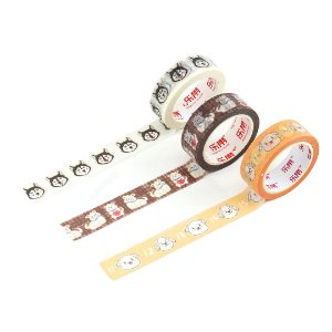 Kit 3 Fitas Adesivas Washi Tape Decorada Pets 1