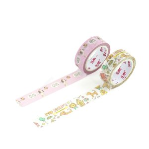 Kit 2 Fitas Adesivas Washi Tape Decorada Dogs 2