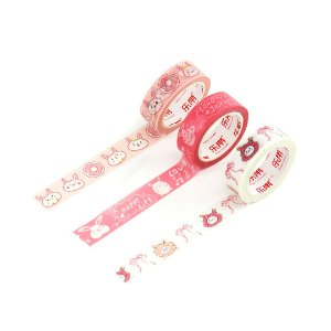 Kit 3 Fitas Adesivas Washi Tape Decorada Habbit 1