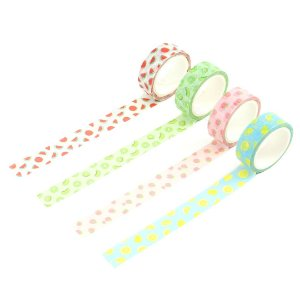 Kit 4 Fitas Adesivas Washi Tape Decorada Saladinha de Frutas