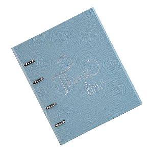 Caderno Fichário Cotton Azul Ultra