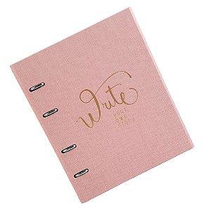 Caderno Fichário Cotton Rosa Ultra