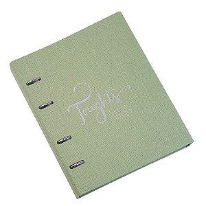 Caderno Fichário Cotton Verde Ultra