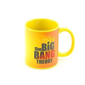 Caneca de Porcelana Big Bang Theory Amarela
