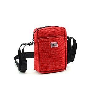 Bolsa Transversal de Tecido Esportivo Vermelha