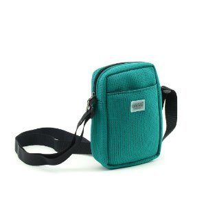 Bolsa Transversal de Tecido Esportivo Verde-Água