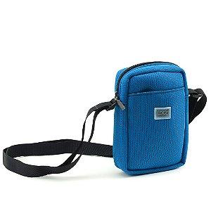 Bolsa Transversal de Tecido Esportivo Azul
