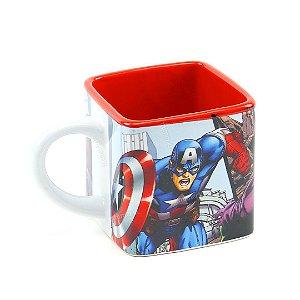 Caneca Cubo de Cerâmica Decorativa Avengers