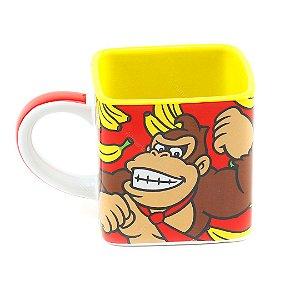 Caneca Cubo de Cerâmica Donkey Kong