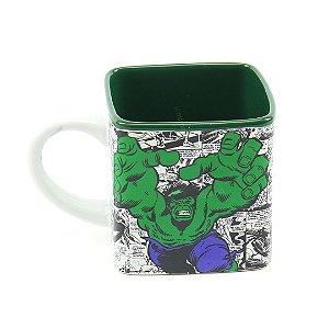 Caneca Cubo de Cerâmica Decorativa Hulk