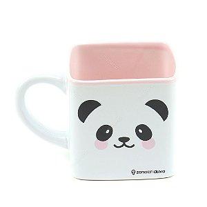 Caneca Cubo de Cerâmica Decorativa Panda