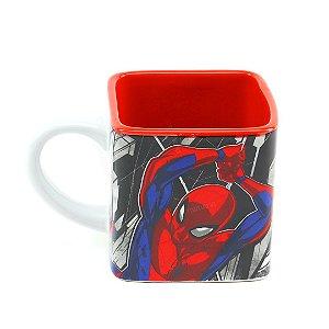 Caneca Cubo de Cerâmica Decorativa Spider-Man