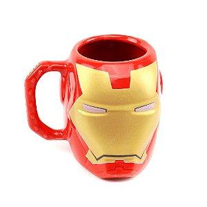 Caneca de Porcelana Decorativa 3D Iron Man