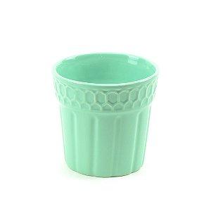 Cachepô de Cerâmica Verde