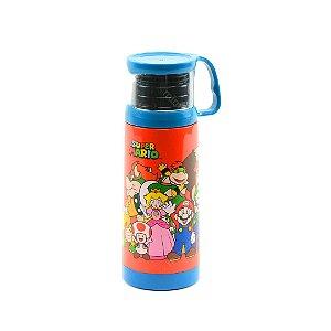 Garrafa Térmica com Xícara Mario 350 ml