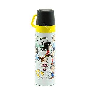 Garrafa Térmica com Xícara Snoopy e Sua Turma 500 ml