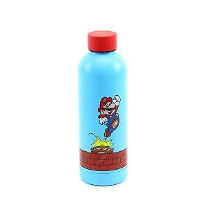 Garrafa Térmica de Inox Mario e Goomba