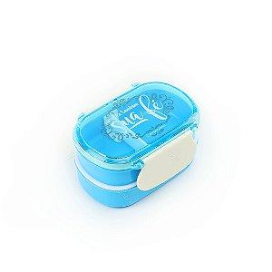 Marmita Lunch Box 2 Compartimentos com Divisória Sua Fé
