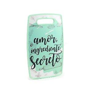 Tábua de Corte Plástico Ingrediente Secreto Verde