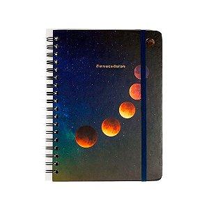 Caderno Colegial Pautado Wire-o Astral Eclipse