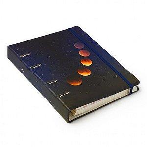 Caderno Argolado Criativo Pautado Astral Eclipse