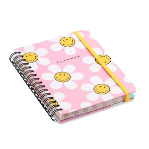 Planner Semanal Wire-o Smiley Margarida Rosa A5