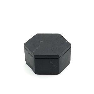 Pote Decorativo em Cimento Preto Pequeno